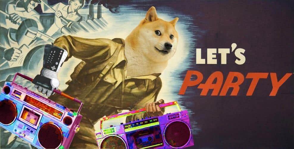 DOGE, dogecoin, Doge party